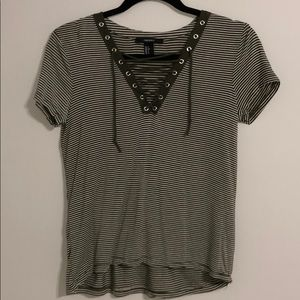 Laced Striped Shirt